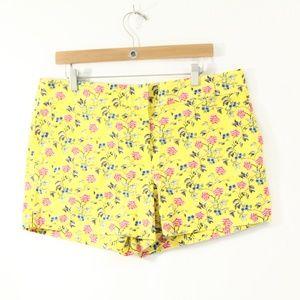 Loft Shorts sz 12 floral print Pockets Cotton